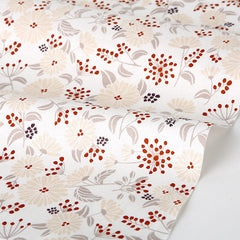 138 Tree Fruit : Chrysanthemum 1100mm Cotton 20C Fabric