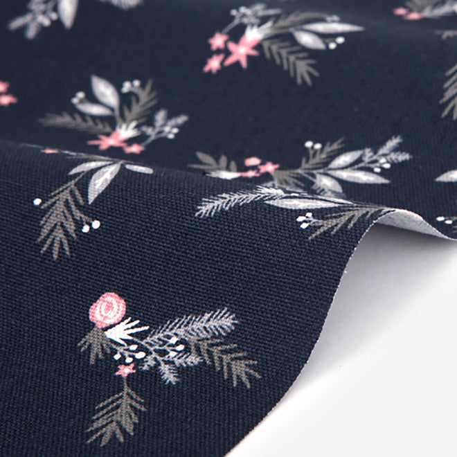 383 Snow Flower 1500mm Cotton Oxford Fabric