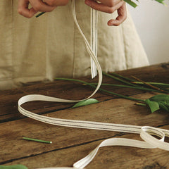 Cotton Ribbon : Double Line