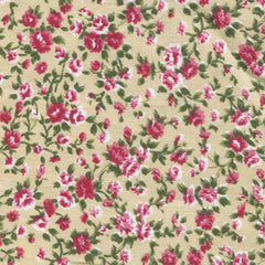 Adhesive Fabric A4 1pk : Antique Flower - Beige