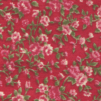 Adhesive Fabric A4 1pk : Antique Flower - Red