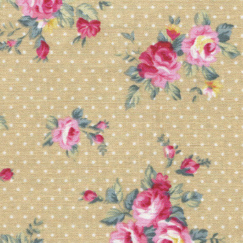 Adhesive Fabric A4 1pk : French Rose - Beige