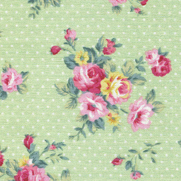 Adhesive Fabric A4 1pk : French Rose - Green