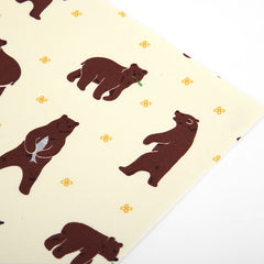 Adhesive Fabric A4 1pk : Walk through the Forest - Grizzly Bear