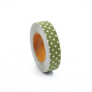 Fabric Tape : Dot Ground - Olive