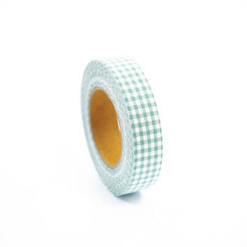 Fabric Tape : Gingham Check - Mint