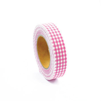 Fabric Tape : Gingham Check - Pink