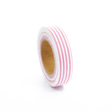 Fabric Tape : Stripe - Pink