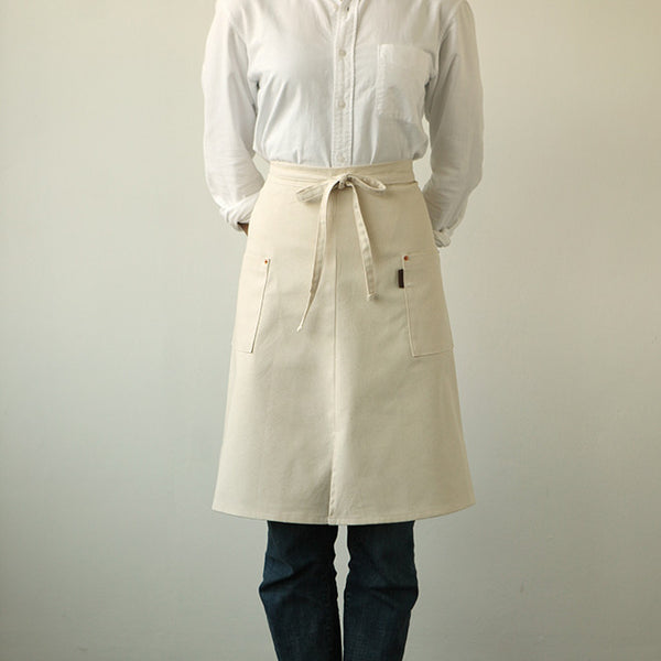 Half Apron : Natural Canvas