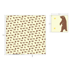L035 Walk through the Forest : Grizzly Bear 1000mm Laminated Fabric
