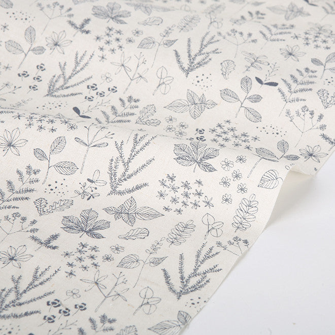 005 Nature : Leaf 1380mm Linen L11 Fabric
