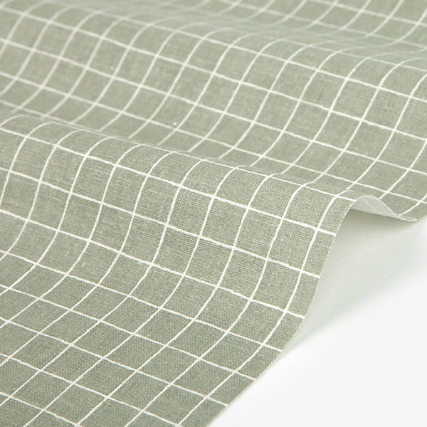 267 Neutral Colours : Cross Stripe 1500mm Linen L11 Fabric