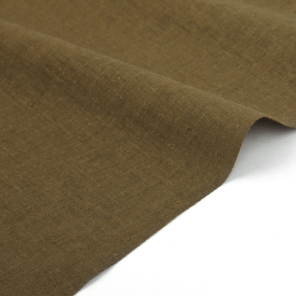 195 Olive Khaki 1450mm Linen L15 Fabric