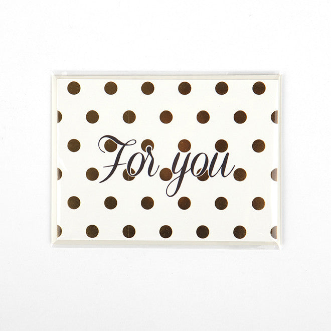 Note Card : For You