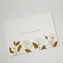Note Card : Happy Birthday Floral