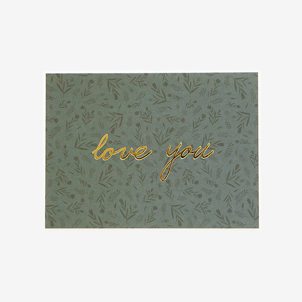 Note Card : Love You Floral
