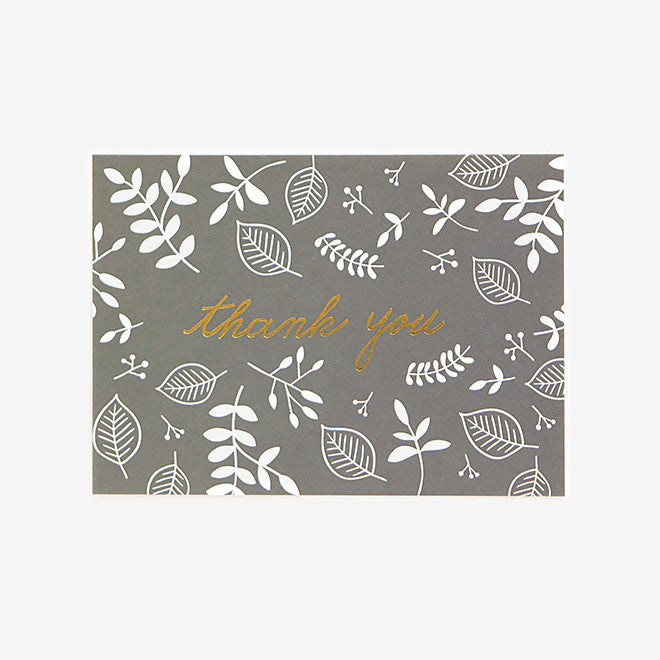 Note Card : Thank You Leaves