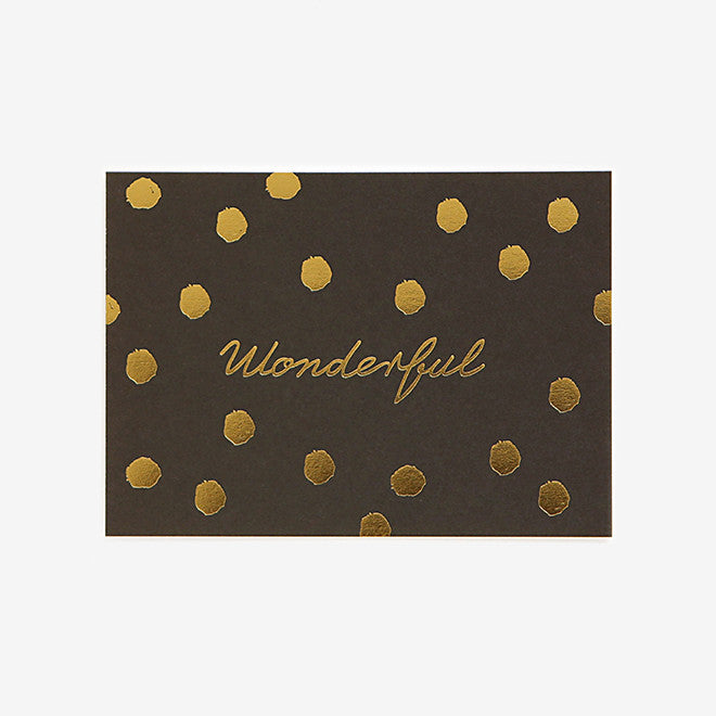 Note Card : Wonderful