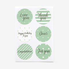 Message Stickers : Mint - 12pk