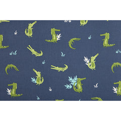 278 Crocodile : Navy 1500mm Cotton Oxford Fabric