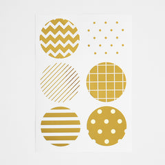 Pattern Stickers : Gold - 12pk