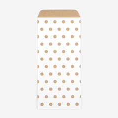 Patterned Envelopes DL : Gold Dot - 10pk