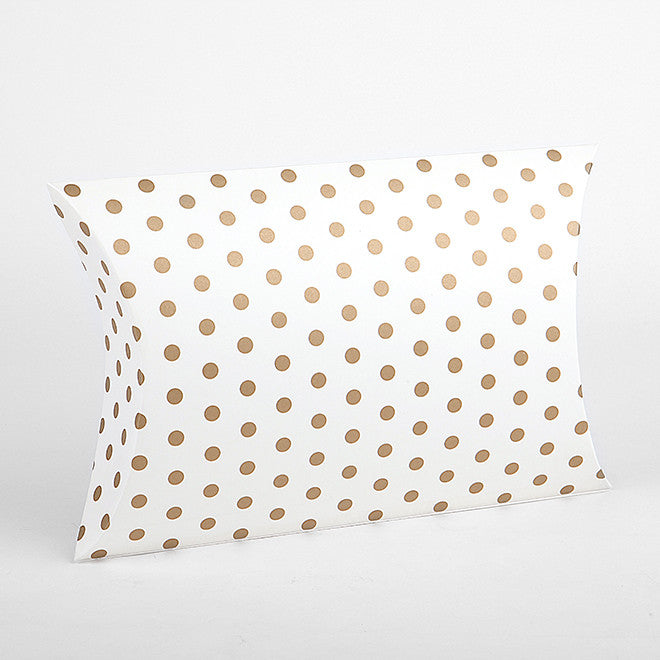 Pillow Box Large : Gold Dot - 2pk