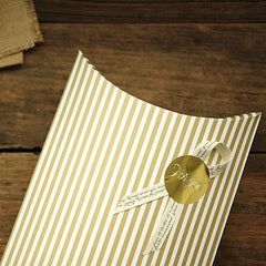 Pillow Box Large : Gold Stripe - 2pk