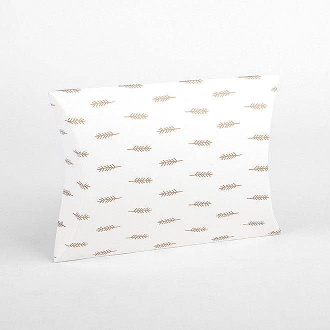 Pillow Box Medium : Feather Gold - 3pk