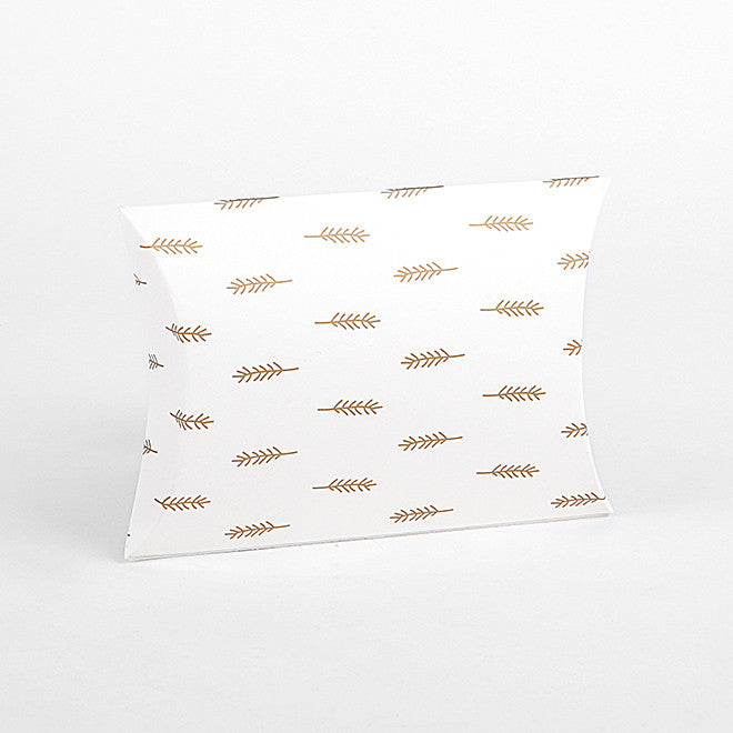 Pillow Box Small : Feather Gold - 4pk