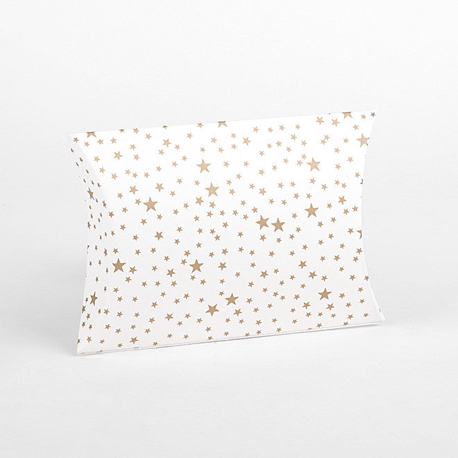 Pillow Box Small : Starry Gold - 4pk