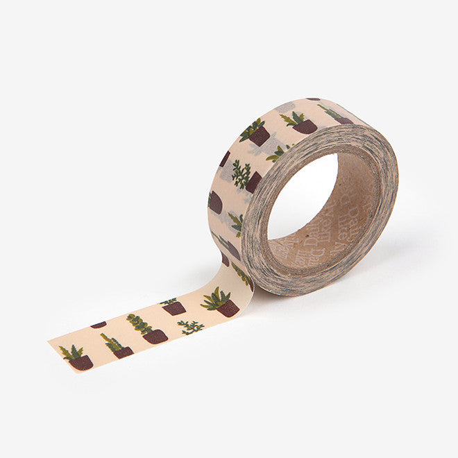 Washi Tape : Succulent