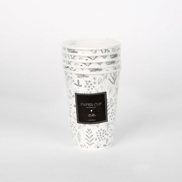 Paper Cups : Nature Leaf - 5pk