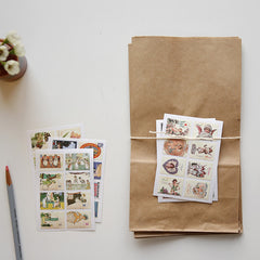 Stamp Stickers : Label - 16pk
