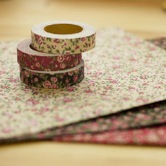 Fabric Tape : Antique Flower - Beige