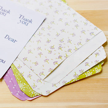 Gift Bag Envelopes : Bouquet - 6pk