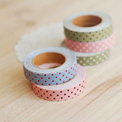 Fabric Tape : Dot Ground - Pink