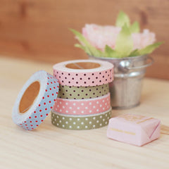 Fabric Tape : Dot - Pink