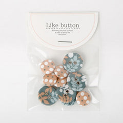 Buttons : Leaves - 10pk