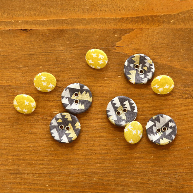 Buttons : White Night - 10pk