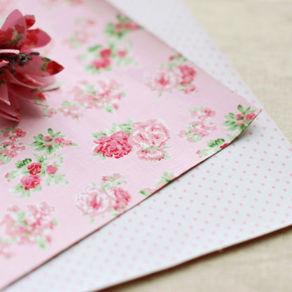 Adhesive Fabric A4 2pk : Floral
