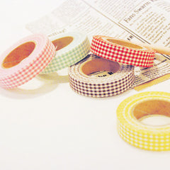 Fabric Tape : Gingham Check - Yellow