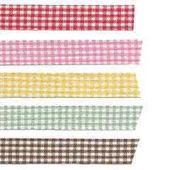 Fabric Tape : Gingham Check - Brown