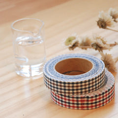 Fabric Tape : Gingham Check - Mix Blue