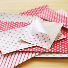 Adhesive Fabric A4 3pk : Red Ribbon