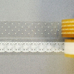 Glass Tape : Snow - 2pk