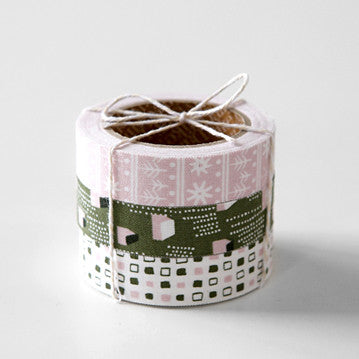 Fabric Tape 3pk : Snow Village