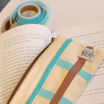 Fabric Tape : Solid - Neon Sky Blue