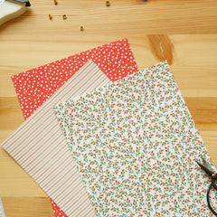 Adhesive Fabric A4 1pk : Strawberry - Flower