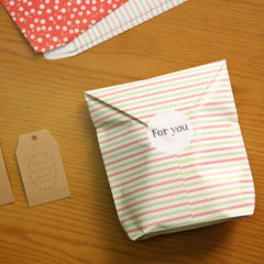 Gift Bag Envelopes : Strawberry - 6pk